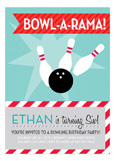 Blue Bowl-a-rama Invitation
