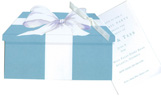 Blue Box Invitation