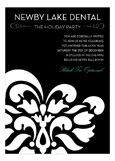 Blue B+W Flourish Invitation