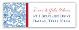 Blue China Address Label