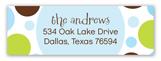 Blue Chocolate Lime Dots Address Label