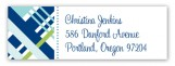 Blue Classic Plaid Address Label