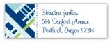 Blue Classic Plaid Address Label