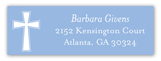 Blue Cross Banner Address Label