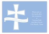 Blue Cross Banner Enclosure Card