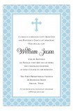 Blue Cross Iron Scroll Invitation