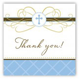 Blue Cross Pendant Gift Tag