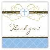 Blue Cross Pendant Gift Tag