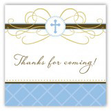 Blue Cross Pendant Square Sticker