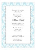 Blue Damask Invitation