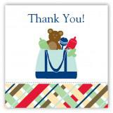 Blue Diaper Bag Gift Tag