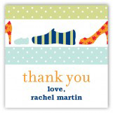 Blue Family Shoes Gift Tag