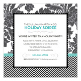 Blue Floral + Tweed Invitation