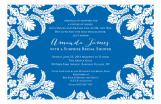 Blue Flourish Invitation
