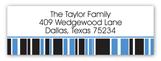 Blue Graduation Year Address Label