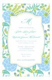 Blue Green Garden Bridal Shower Invites