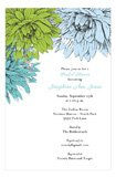 Blue Green Mums Invitation