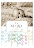 Blue Hello Birth Announcements Photo Card
