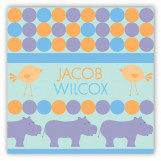 Blue Hippos Gift Tag