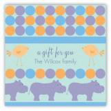 Blue Hippos Square Sticker