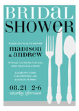 Blue Housewares Shower Invitation