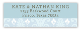 Blue Ikat Address Label