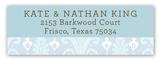 Blue Ikat Address Label