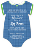 Blue Linen Onesie Invitation