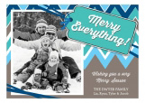 Blue Merry Everything Photo Card