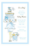 Blue Momma Package Invitation
