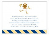 Blue Monkey Stripes Enclosure Card
