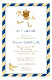 Blue Monkey Stripes Invitation