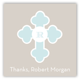 Blue Monogram Cross Gift Tag