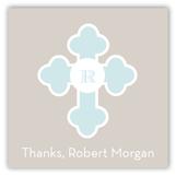 Blue Monogram Cross Gift Tag