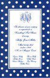 Blue Polka Dots Invitation