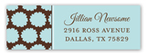 Blue Pom Pom Giraffe Address Label