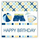 Blue Pool Trio Gift Tag