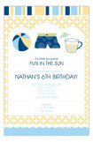 Blue Pool Trio Invitation