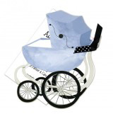 Blue Pram Invitation