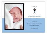 Blue Rattle Icon Photo Card