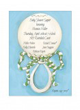 Picture Perfect Blue Rattle Invitation