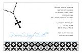 Blue Rosary Beads Invitation