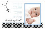 Blue Rosary Beads Photo Card