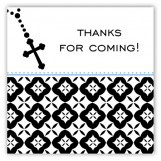 Blue Rosary Beads Square Sticker