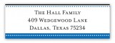 Blue Senior Seal Address Label