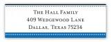 Blue Senior Seal Address Label