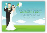 Blue Sky Bride and Groom Invitation