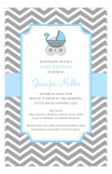 Blue Strolling Invitation