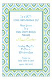 Blue Tile Pattern Invitation