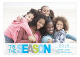 Blue Tis The Holiday Season Photo Card